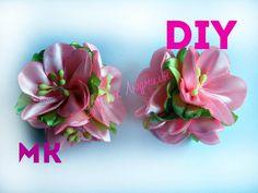 Цветы Канзаши на резинках своими руками \ Flowers kanzashi elastic band...