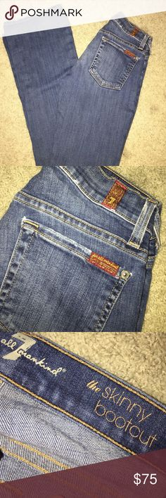"""Jeans 7 for all mankind jeans, """"the skinny bootcut"""", great condition and only worn a handful of times. 7 For All Mankind Jeans Boot Cut"""
