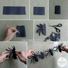 Best DIY Halloween Decorations for this halloween. We gathered up Over 90 of the BEST Homemade Halloween Decorations to share with you. Homemade Halloween Decorations, Halloween Crafts For Kids, Halloween Projects, Halloween Party Decor, Holidays Halloween, Halloween Themes, Halloween Halloween, Origami Halloween Decorations, Halloween Activities