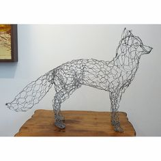 What a great fox wire sculpture by Ruth Jensen.