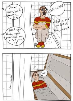 """We thinks he's trying to drown himself in the showers"" whoever makes these remember you are loved Harry Potter Comics, Harry Potter Jokes, Harry Potter Fan Art, Harry Potter Universal, Harry Potter Fandom, Hogwarts, Yer A Wizard Harry, Otaku, Drarry"