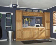 Cabinets in the garage? Geat way to organize. #organize #garage