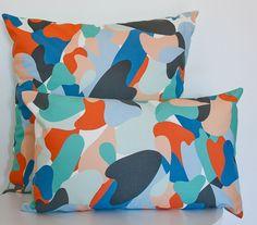 Decorative Cushions, Printed Cushions, Modern Home Interior Design, Print Patterns, Pattern Designs, Surface Design, Organic Cotton, Shapes, Throw Pillows