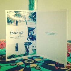 Beautiful thank you cards! #thankyoucards #photographicstationery #love #perfectmatch #graphicdesign #aboxfullofmatches