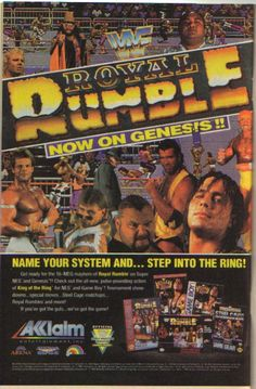WWF Royal Rumble Akklaim video game ad from a comic book. Pro Wrestling