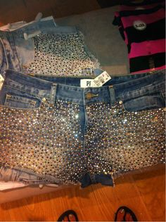 VS shorts <3   need to be 3 inches longer, however i do love all the bling!!