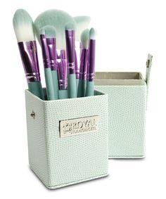 Royal Brush Purple & Teal Eight-Piece Travel Brush Set