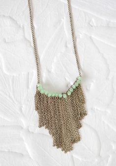 Blushing Beads Necklace In Green | Modern Vintage New Arrivals $14.99