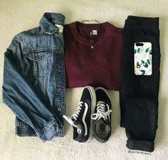 1 2 or credit Panhia Darlene Rosa - Outfit Ideen Tomboy Outfits, Cute Comfy Outfits, Teenager Outfits, Teen Fashion Outfits, Grunge Outfits, Outfits For Teens, Trendy Outfits, Fall Outfits, Summer Outfits
