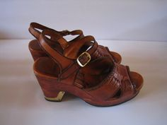 Connie Platform Sandals 1970's by RockIslandDesigns on Etsy, $30.00
