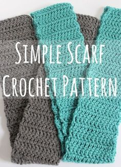 Simple Scarf #Crochet Pattern makeandtakes.com -- this is almost exact to what scarves I make.