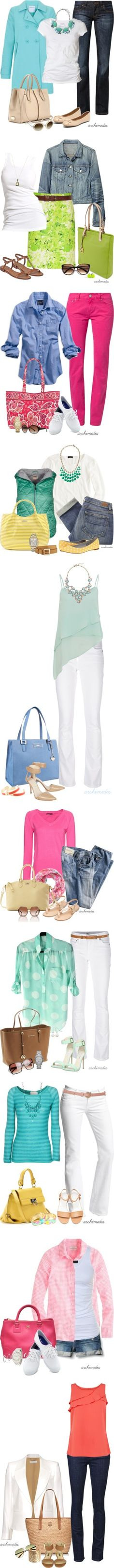 """Spring Colors"" by archimedes16 on Polyvore"