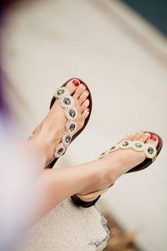 fibi & clo smoke cascade sandals