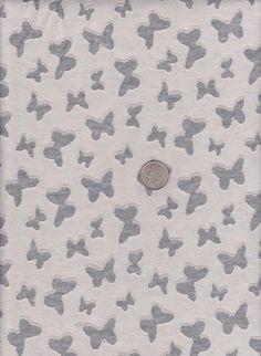 a5ed6272e38 Trendy Burnout Butterflies on Burnout Double Cotton Poly Lycra Jersey Knit  Content 48%Cotton 48