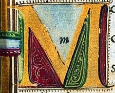 Initial letter M from the Book of Horace by Aldus Manutius (Venice, 1501)