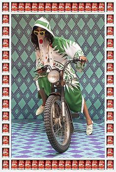 "Hassan Hajjaj | ""M.,"" 2010/1431, Edition of 7, Metallic Lambda on 3 mm White Dibond, 52.36h x 36.85w in / 133h x 93.6w cm"