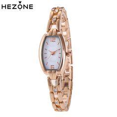 215295c6ff8 Aliexpress.com   Buy HEZONE Luxury Women Watches Bracelet Ladies Quartz  Rose Gold Watch Clock Fashion Women Quartz Dress Wristwatch relogio  feminino from ...