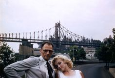 Arthur Miller and Marilyn Monroe in New York City photographed by Sam Shaw, June 12, 1957