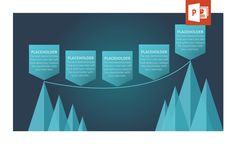 Emphasize your path from one side to the other with this concept diagram fpr PowerPoint.