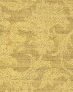 Acanthus Leaf Scroll Damask Gold Cream, Faux Fabric, Woven Tapestry Look - Wallpaper  By The Yard - GU1891