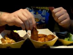 How to eat a chicken wing with one hand, so you keep your beer hand free (adult language)