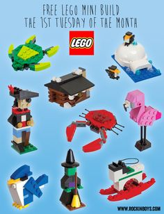 Free Lego Mini Build Each Month #legos