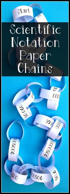 This paper chain activity is designed to strengthen students skill in converting between Scientific Notation & Standard Notation. Students start at the Start link and will find the next link in the chain by matching the Scientific Notation on the Start link to the corresponding Standard Notation on the next link. 8.2C Convert between Standard Decimal Notation and Scientific Notation.