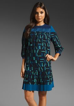 Fall 2012 Anna Sui Book Worm Dress in Navy Multi  Available At: http://www.revolveclothing.com/DisplayProduct.jsp?product=ASUI-WD107=Anna+Sui