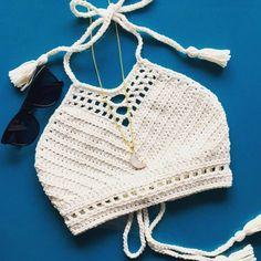 Croche | cropped | nude | branco | frente única                                                                                                                                                                                 Mais