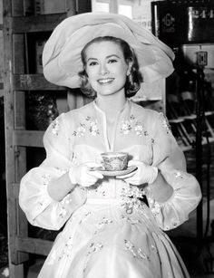 Grace Kelly on the set of High Society