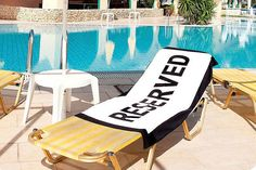 'Reserved' Beach Towel