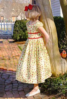 Girls dress sewing pattern