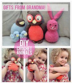 The Busy Budgeting Mama: DIY - Crocheted Animal Patterns - owl, birds, bunny