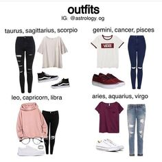 Which outfit would you wear??? #zodiacsigns #outfits        Trend Trendy Outfits Clothes Style