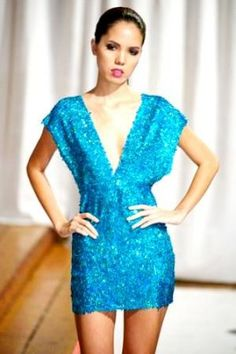 d1c5af35315 Turquoise Blue Teal Sequin Two Strap Dress
