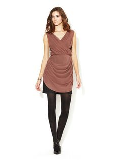 The Addison Story Silk Ruched Wrap Bodice Dress