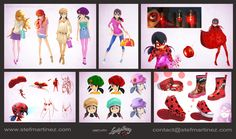 angiensca:  loliwinx:  Here is some concept art for Miraculous!  These are the designs that originally made me fall in love with this show omg bless