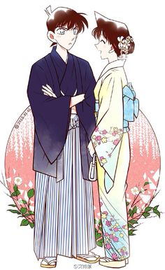 Detective Conan Shinichi and Ran Happy New Year! 2016
