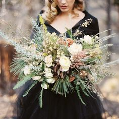 This stunner made by @bloomsburyblooms at our #ponderosaworkshop last Fall in the High Desert of Sisters Oregon. Photo: @anneblodgettphotography | Gown @elizabethdye | Model @marlayyorkk | Makeup and hair | @allapavlov | Scan @photovisionprints