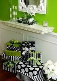 black white and lime christmas