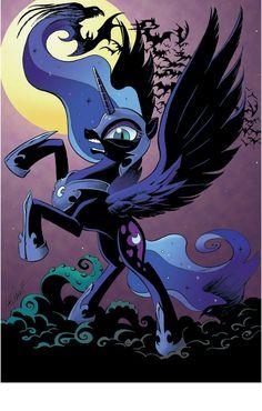 Celestia And Luna, Nightmare Moon, Fantasy Beasts, Mlp Fan Art, Moon Princess, Cute Poster, Centaur, My Little Pony Friendship, Moon Art