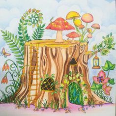 Enchanted Forest by Johanna Basford - colouring book Do livro de colorir: Floresta Encantada (color pencil / lápis de cor)