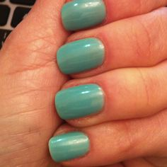 Rimmel Misty Jade Nail Polish http://www.adnacosmetic.com/2012/03/nail-polish-of-week-rimmel-045-misty.html?m=0