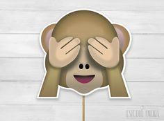 Plaquinha emoji macaquinho