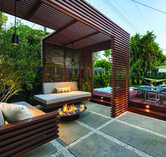 35 Fabulous Pergola Design Ideas For Inspire You Everytime - A pergola is a wonderful architectural element to add to any garden or landscape design. Pergolas are great for casting shade, providing support for c. Pergola Canopy, Outdoor Pergola, Backyard Pergola, Pergola Plans, Backyard Landscaping, Outdoor Decor, Cheap Pergola, Pergola Carport, Wooden Pergola