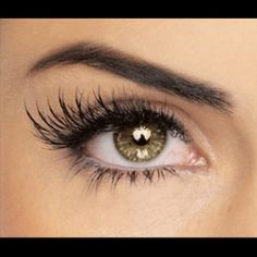 fake lashes on the outside corner - (would love to try this sometime:)
