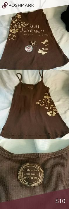 Summer tank top Brown tank with spaghetti straps Prana Tops Tank Tops