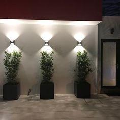 New Exterior Wall Design Ideas Porches Ideas Garden Wall Designs, Garden Design, Exterior Wall Design, Exterior Wall Light, Modern Exterior Lighting, Landscape Lighting Design, Building A Pergola, Walled Garden, Landscape Walls