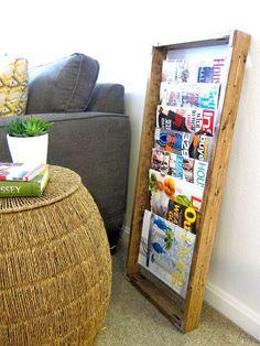 Inspired Whims: DIY Magazine Rack