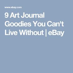 9 Art Journal Goodies You Can't Live Without | eBay
